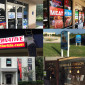 windows graphics, store front, real estate signs, vinyl lettering